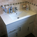 Large Sink with Bathroom Cabinet